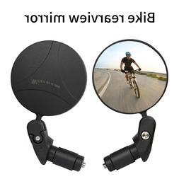 1-pack Mini Rotaty Handlebar Glass Rear view Mirror for Road