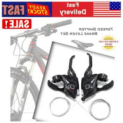1 Pair Bike 3x7-speed Disc/v Brake Lever Shifter Bicycle Spe