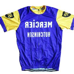 1964 MERCIER HUTCHINSON Cycling Jersey Retro Road Pro Bike M