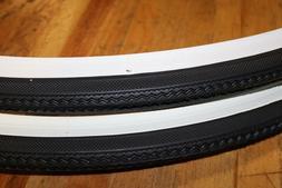 """2-Pack DURO  WHITEWALL 27x1-1/4"""" Road Bike Tires"""