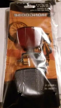 2 packs Mongoose Wide Angle Front & Rear Bike / Bicycle Refl