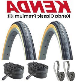 "2-PAK KENDA K35 Classic Gumwall Kit 27"" x 1-1/4"" Bike Tires"