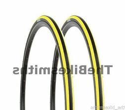 2 PAK Kenda Kadence YELLOW & BLACK Road Bike Tires 700 x 23C