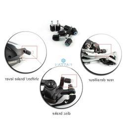 2× Road Bike Gear Cable Adjuster Derailleur M5 Barrel Screw