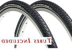 2 Tires & 2 Tubes, 700c x 35 Panaracer TourGuard PLUS Bicycl