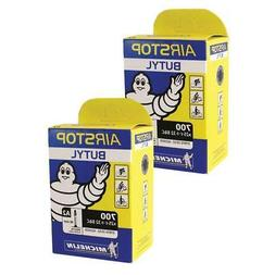 2 x Michelin Road Bike Airstop inner tube 40mm Presta Valve