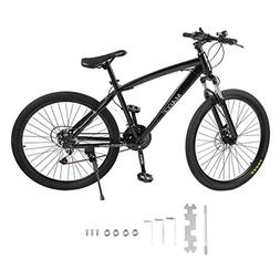 "Homgrace 26"" 21 Speeds Mountain Bike, Double Disc Brakes Rac"
