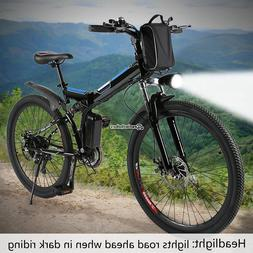 "26"" Electric Mountain Bike Foldable Lithium 25km/h High Spee"