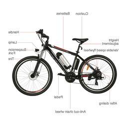 "26"" Electric Mountain Bike/Road Bike/Men's Cyclocross Bike W"