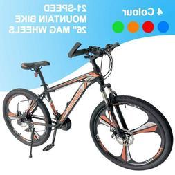 "26"" Front Suspension Mountain Bike Road Bike 21 Speed City B"