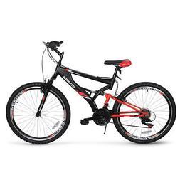 "26"" Full Suspension Mountain Bicycles 21-Speeds Shimano Shif"
