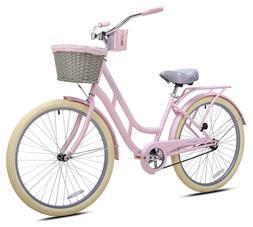 Kent 26 inch Ladies BCA Charleston Beach Cruiser Bike Pink