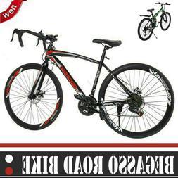 """26"""" Road Bike Shimano 21 Speed Bicycle Mens Bikes Disc Brake"""