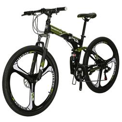 "27.5"" Full Suspension Folding Mountain Bike 21 Speed Bicycle"