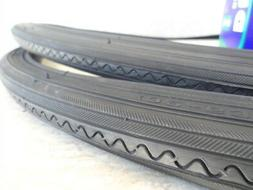 27 x 1 1/4 Bicycle All Black Tires & Tubes w/ liners for Roa