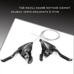 2PCS EF500-7 3x7 Speed MTB Bike Brake Levers Set Shifter Shi