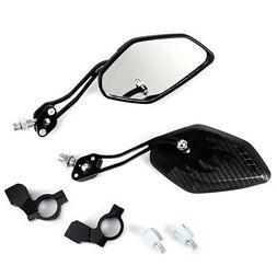 2Pcs Universal Handlebar HD Glass Safe Bicycle Rear View Mir