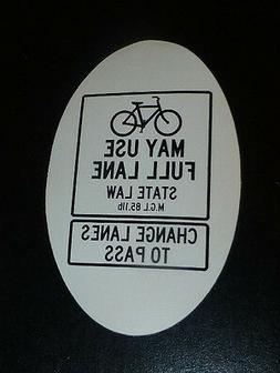 2X Bikes May Use Full Lane  Vinyl Sticker Decal fixie mtb Mo