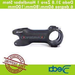 Deda 31.8mm Zero 1 Road Bike Handlebar Stem 6 degree Black 6
