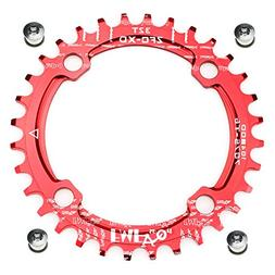 FOMTOR 32T Chainring 104 BCD Narrow Wide Chainring with 4 Bo