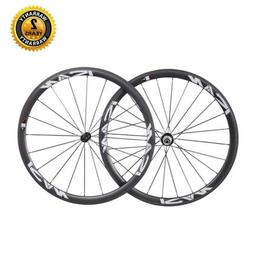 ICAN 38mm 700C Lightweight Road Bike Carbon Wheelset Clinche