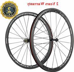 38mm Clincher Road Bike Wheels Bicycle Wheelset Transparent