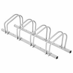 Goplus 4 Bike Rack Bicycle Floor Stand Parking Garage Storag