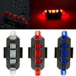 5 LED USB MTB Road Bike Tail Light Rechargeable Bicycle Warn