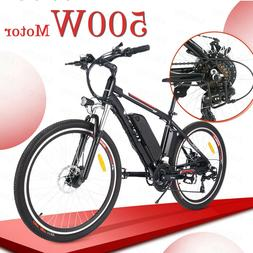 500W Power 26'' 36V Foldable Electric Power Mountain Bicycle
