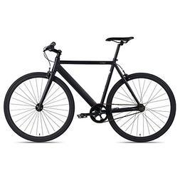 6KU Track Fixed Gear Bicycle, Black/Black, 58cm