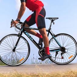 700C 21 Speed Quick Release Aluminum Road Bike Outdoor Sport