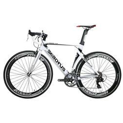 700C 54cm Light aluminium Road Bike Shimano 14 Speed White