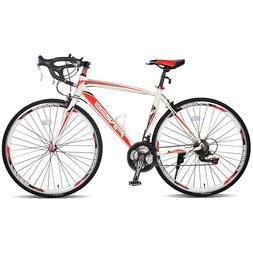 700C Merax Aluminum 21 Speed 700C Road Bike Racing Bicycle S