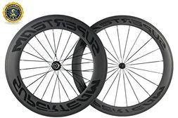 Superteam 700c Carbon Bicycle Wheel Front 60mm Rear 88mm Cli