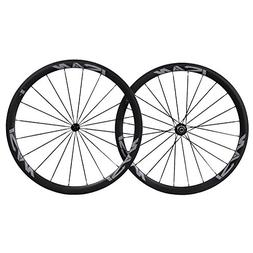 ICAN 700C Carbon Road Bike Wheelset Clincher 38mm Deep 25mm