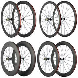 700C Clincher Carbon Road Bike Wheelset R13 Hub Carbon Wheel