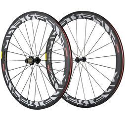 700C Full Carbon Road Bike Wheelset V Brake 50mm Clincher Ca