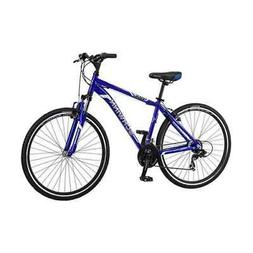 Schwinn Men's 18-inch 7-Speed GTX 1 Hybrid Bike, Blue Silver