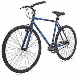 700c men s fixie bike blue