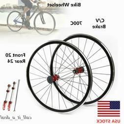 700C Road Bike Bicycle Front Rear 7/8/9/10/11Speed Wheel Set