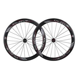 SAVADECK 700C Road Bike Wheelset 50mm 3K Carbon Fiber Clinch