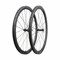 ICAN 40mm 700C Wheels Carbon Bike Wheels Clincher Tubeless R