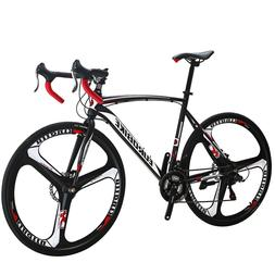 Eurobike700C Wheels Road Bike 21 Speed Bicycle 54cm Daul Dis