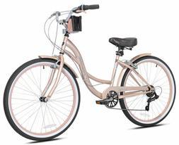 Kent 72653 26 inch Bayside Cruiser Bike - Rose Gold Bicycle