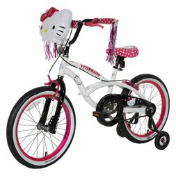 "Hello Kitty Girls Bike, White/Black/Pink, 18""/One Size"