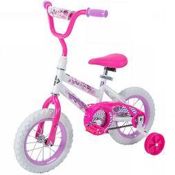 A 12 inch Sea Star Girls' Bike, Steel Frame, Training Wheels