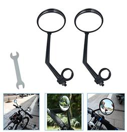 A Pair of Rearview Bicycle Mirrors, Bike Mirrors Support 360