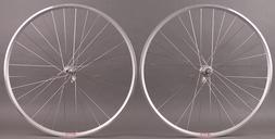 Velocity A23 Silver Rims Road Bike Wheelset 32h Fits Campagn
