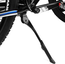 Adjustable Bicycle Kickstand with Concealed Spring-Loaded La