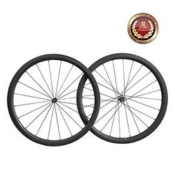 IMUST Aero Road Bike Wheelset 40mm Deep 700C Carbon Fiber Cl